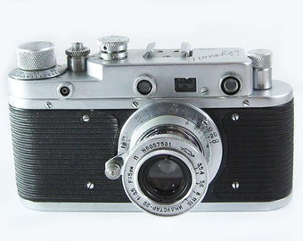 ZORKI S Russian Soviet 35mm Film Leica Copy Rangefinder Camera Collapsible Industar-22 Lens