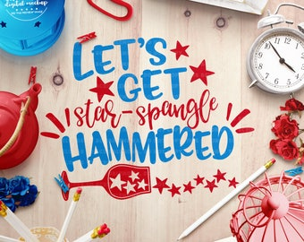 July 4th svg Files for Cricut, Star Spangled Hammered svg, Independence Day svg, 4th of July svg, Fourth of July svg, 4th of July Party