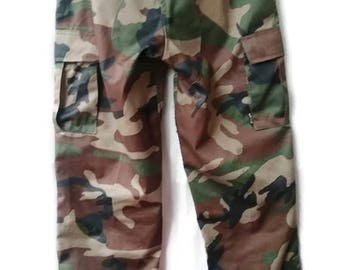 Reserved Camo Pants Camouflage Trousers  Long Military Size s small 38
