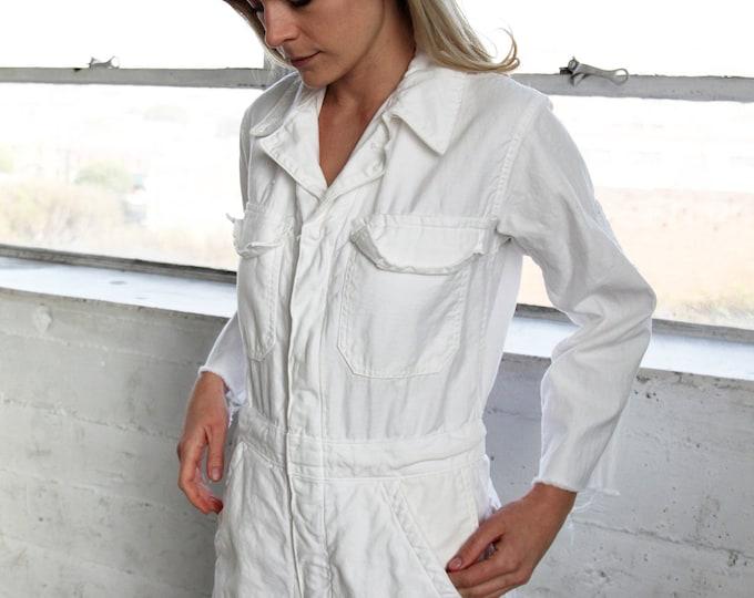 White Cotton Coveralls