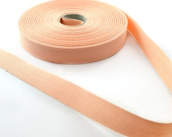 14.5 mm salmon cotton twill tape