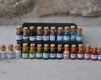 Set of 5 Mini Gaming Minecraft Potions, Miniatures, Charms