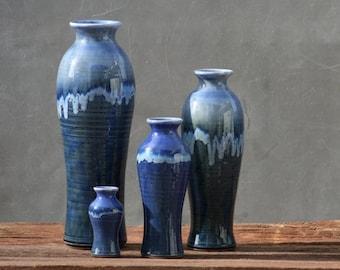 Wheel Thrown stoneware pottery Vase