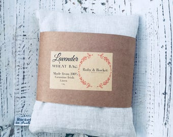 Heat Cold Pack Irish Linen Organic Lavender Wheat Pack Heat Cold Bag Microwaveable Washable Heating Pad Natural