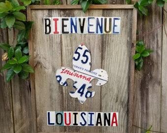 Welcome to Louisiana - Custom Made License Plate Art
