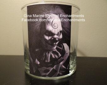 Halloween Luminary CREEPY Clown votive-tea light holder