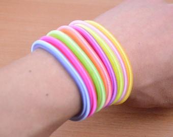 20 elastic bracelet for craft,colorful elastic cord,small round elastic wrist strap.elastic hand accessories