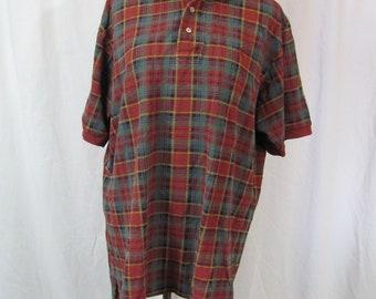 Vinatge 90s Mens RALPH LAUREN Plaid Polo Shirt