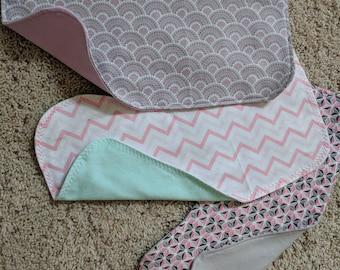 baby flannel burp cloths
