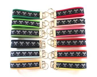 Tennis Key Ring, Tennis Key Fob, Tennis Team Gift, Gift for Tennis player,