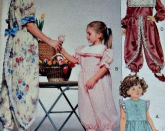 Little Vogue 8035 Sewing Pattern, Girls' Jumpsuit, Size 4-5-6, Uncut FF