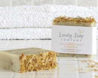 Chamomile & Lavender Natural Soap - sensitive skin soap - vegan soap - lavender essential oil - natural skincare - olive oil soap