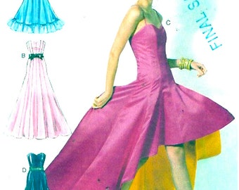 Party Prom Gown Bridesmaid Wedding party dress sewing pattern McCalls 6701 Sz 6 to 14