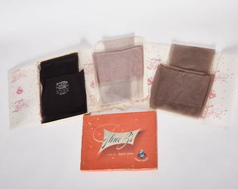 3 pr nylon stockings by suzanne three b's vintage 1950s • Revival Vintage Boutique