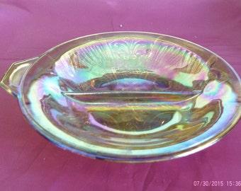 Carnival Glass Divided Dish