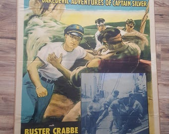 """FREE SHIPPING!  Antique Movie Poster 1955 Serial Cliffhanger """"The Sea Hound"""""""