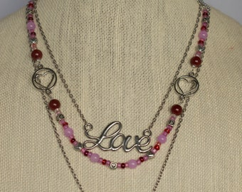 Lovebird Necklace with 3 Strands
