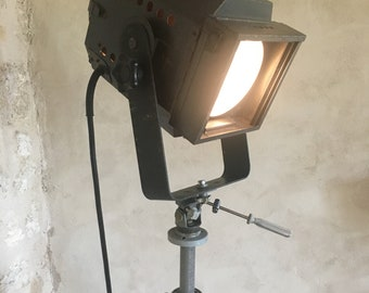 Vintage French Stage/Theatre Light with Gitzo Reporter Tripod