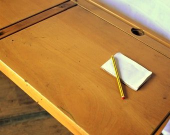 Vintage Twin School Desk - Kids Room - Arts and Crafts