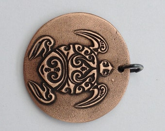 Pendant Copper - Turtle (H215)