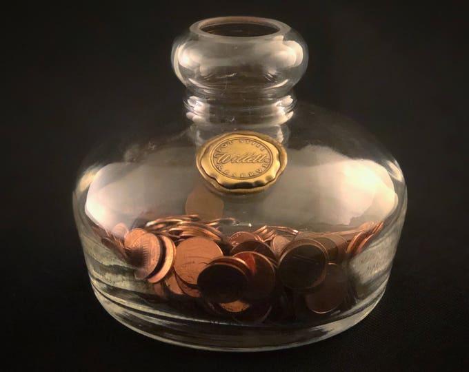 Recycled Willett Pot Still Bourbon Bottle Vase, Coin Bank, Pen Holder