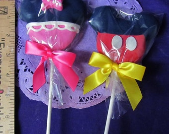 Mouse Pants dress Cookies on a stick Cookie pops 12