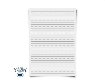 Print Your Own | KINDERGARTEN Writing Paper | Full Page and Half Page Draw-and-Write Options Included PDF and JPG formats