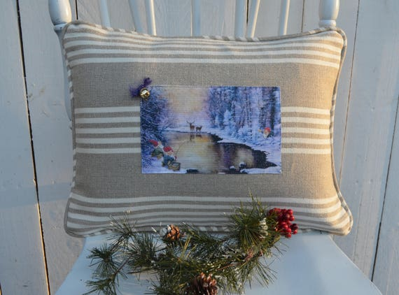 Gnomes By A Pond Pillow