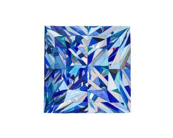 Gem No. 8, Watercolor Gem, watercolor diamond, watercolor, watercolor print, art print, diamond art, diamond painting, gemstone painting