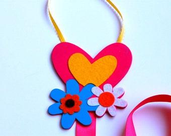 Barrette Keeper Organizer Flowers Heart