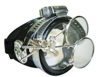 StEAMpunk monocle goggles glasses ViCTorian right side for burning man Halloween party novelty cwg costume accessory