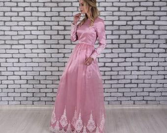 Pink Wedding Dress, Fairy Wedding Dress, Alternative Wedding Dress, Pink Formal Dress, Pink Evening Dress, Pink Prom Dress