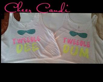 Tweedle Dee/ Tweedle Dum Tank Tops ONLY Set
