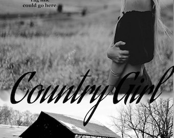 Premade eBook Cover Country Girl in Black and White
