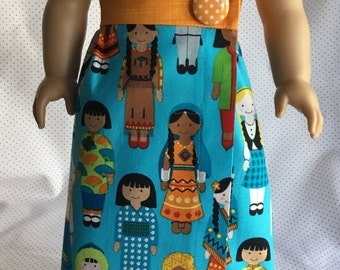 INTERNATIONAL CHILD DRESS Fits My American Girl and Other 18 Inch Dolls
