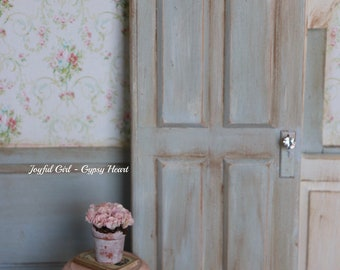 Country Door Dollhouse Miniature Farmhouse Shabby Chic Country 1:12