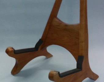 Solid Pecan Acoustic Guitar Stand