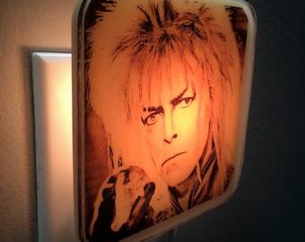 Labyrinth Night Light David Bowie 80s Retro Decor Gift Jareth Goblin King Jim Henson Fantasy Movie Geek Art Nightlight Plug In Dance Magic
