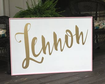Personalized Name, Girls Bedroom,Nursery Name Sign,12x24