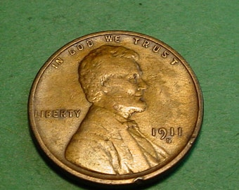 1911-S  Lincoln Wheat  Cent Very Fine - Semi Key Date  <>ET0035