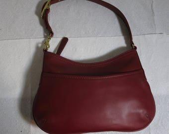 COACH BAG Vintage red leather Classic Shoulder