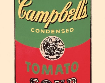 Andy Warhol Campbell's Soup Can, 1965 (green & red)