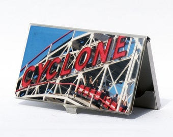 BUSINESS CARD CASE - Cyclone Card Case - stainless steel card case