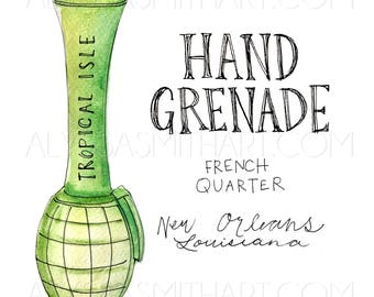 Hand Grenade Drink Print