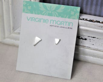 Sterling silver Earrings - Asymmetry handmade jewelry