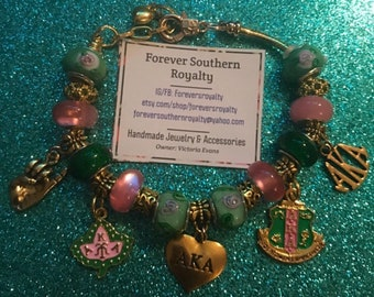 Aka sorority charm bracelet