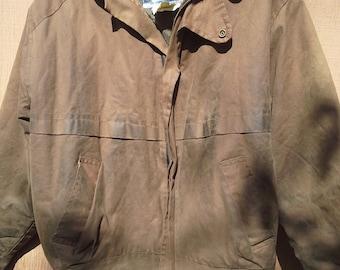 Stockmans Australian Feathertop Oil Skin Waxed Canvas Brown Jacket L Short