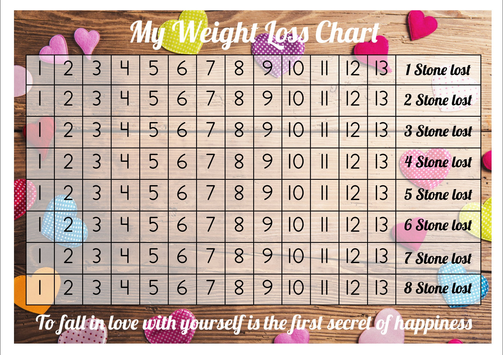 Weight loss chart tracker 8 stone comes with star description weight loss chart tracker nvjuhfo Images