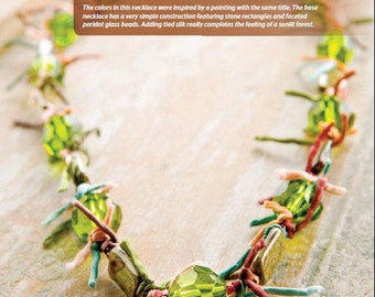 Tutorial Woodland Walk Necklace, Faceted Glass Beads, Stone Beads, Dyed Silk String