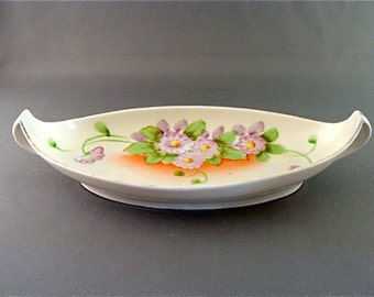Vintage Hand Painted  Porcelain Candy/Nut Dish by Nippon.